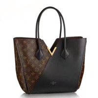 LV Women Shopping Leather Tote Crossbody