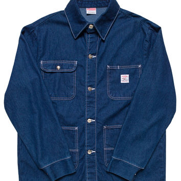 Indigo Denim Chore Coat - Washed - Cone White Oak