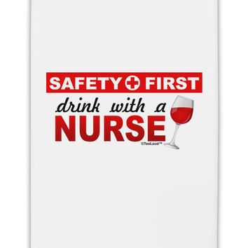 "Drink With A Nurse Fridge Magnet 2""x3"