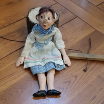 Vintage Tony Sarg's Marionette Dame Van Winkle by Madame Alexander Composition Doll Puppet Puppetry Rip Van Winkle