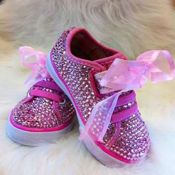 Bling Baby Princess toddler Shoe sneaker with lace by Crystaljam
