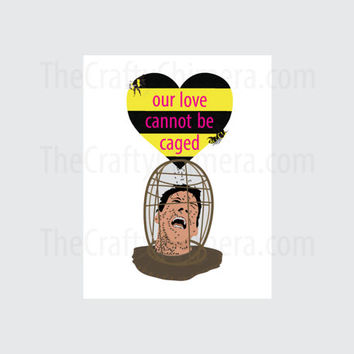 Nicolas Cage The Wicker Man Printable Valentine Card