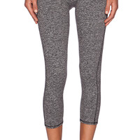 SOLOW Contrast Band Legging in Charcoal