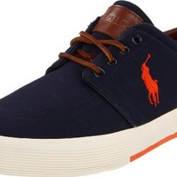 Polo Ralph Lauren Men's Faxon Low Sneaker, Navy, 9.5 D US