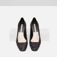 MID-HEELED GLITTER SHOES New