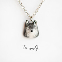 Le Wolf Petite Necklace by leanimale on Etsy