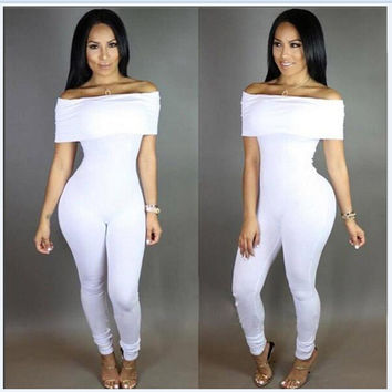 Sexy Strapless Pants Jumpsuit [7767304519]