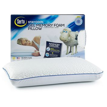 Serta Stay Cool Gel Memory Foam Pillow (White)