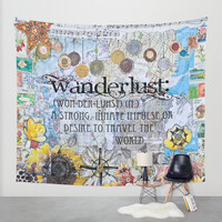Wanderlust Wall Tapestry by Jenndalyn | Society6