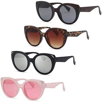 AFONiE Dive Cat Eyes Thick Frame Sunglasses for women - 4Pack