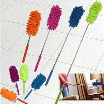 Adjustable Chenille Car Feather Duster Dust Duster Dust Shan Dusting Brush Household Handle Magic Dusters