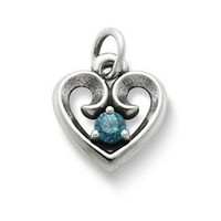 Avery Remembrance Heart Pendant with Blue Zircon | James Avery