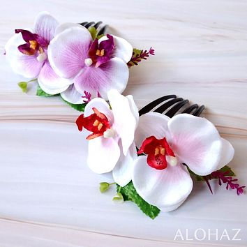 Pink Orchid Joy Hawaiian Hair Comb