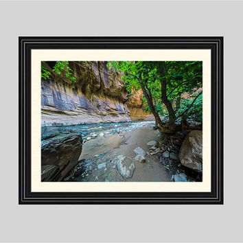 Zion Narrows - Zion National Park, Utah - Fine Art Print - Photograph, Scenic Photography, Nature Print