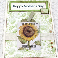 Mother's Day Card - Sunflower Card - Sunflower Mother's Day Card - Blank Card - Floral Card - Card for Mom - Happy Mother's Day Card