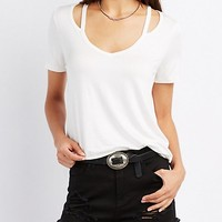 Strappy Cut-Out Tee