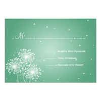 Elegant Wedding RSVP Summer Sparkle Mint Green Invitations from Zazzle.com