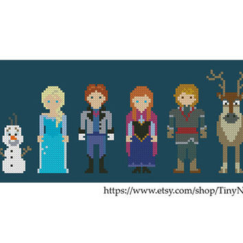 Cross stitch pattern Frozen Instant Download PDF