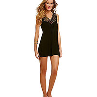 Kenneth Cole Reaction Crochet My Way Cover-Up Dress - Black