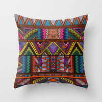 NAHUALA Throw Pillow by Kris Tate