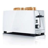 Graef 4 Slice Long Slot White Toaster TO101.UK