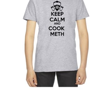 keep calm and cook meth - Youth T-shirt