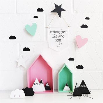 45Pcs set 8CM Cute cloud pattern wall decal sticker for children room custom decal stickers removable bed background decal