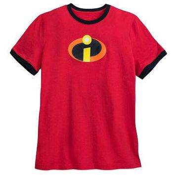Licensed cool Disney Store The Incredibles 2 Movie Logo Ringer T-Shirt for Men Tee XS-XXL NWT