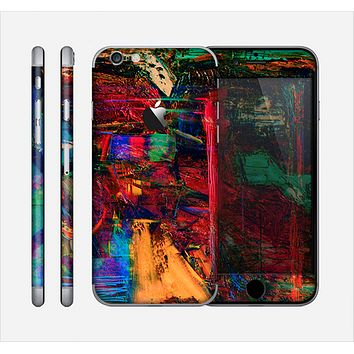 The Abstract Colorful Painted Surface Skin for the Apple iPhone 6