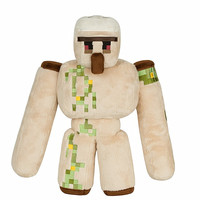 2016 NEW Minecraft Plush Action Figure Toys 36CM Minecraft Iron Golem Sword Pickaxe Stone Bed Box Model Toys Kids Toys For Gift