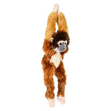 18 Inch Hanging Stuffed Squirrel Monkey Plush Monkey Primate Kingdom Collection