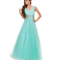 Mint Green Tulle Ball Gown Prom 2015
