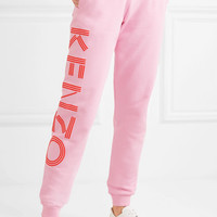KENZO - Printed cotton-jersey track pants