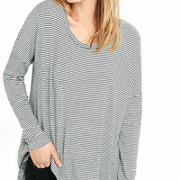 Striped Express One Eleven Split Back Tee from EXPRESS