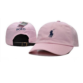 Trendy Pink Polo Baseball Golf Cap Hat