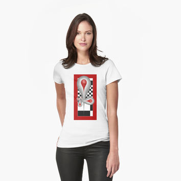 'Caught Tears Fractal Design and Pattern' T-Shirt by gabiwArt