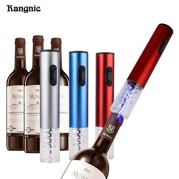 Pro Electric wine corkscrew Screwpull Red Wine LED light Bottle Opener With Free Foil Cutter Stainless Steel Without Battery P30