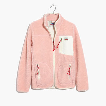 Madewell x Penfield® Lucan Pink Fleece Jacket : shopmadewell jackets | Madewell