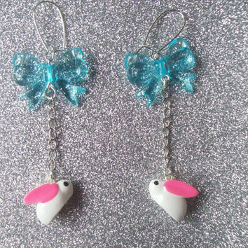 Alice's White Rabbit Earrings - Wonderland Inspired