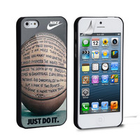 nike basketball just do it and passion iPhone 4 5 6 Samsung Galaxy S3 4 5 iPod Touch 4 5 HTC One M7 8 Case