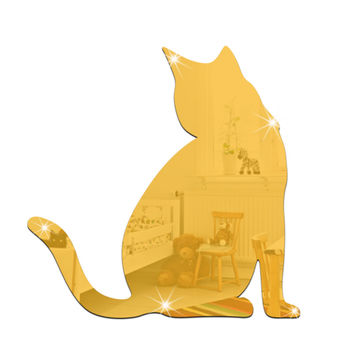 3D Crystal Cat Wall Stickers
