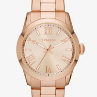 Analog Bracelet Watch - Rose Gold from EXPRESS