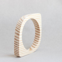 15 mm Wooden bracelet unfinished eye shape - natural eco friendly NE15