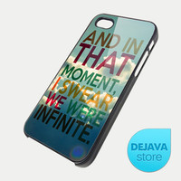 Infinite Quote Vintage Sky iPhone 5 Case