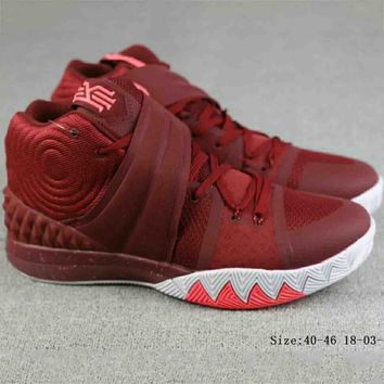 NIKE Irving 4th Generation Men's Trendy Basketball Shoes Boots F-A-FJGJXMY red