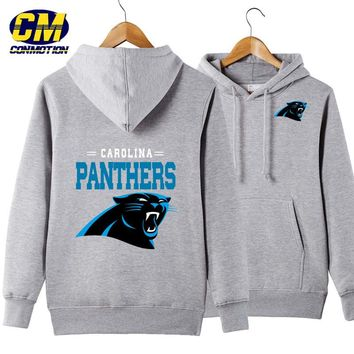 NFL American football Men's casual hoodie fashion sweatshirt outdoor sports pullover Carolina Panthers
