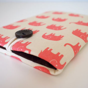 Pink Elephants Kindle Case, Padded Kindle Sleeve for Kindle Fire, Paperwhite, Nexus 7, iPad Mini other eReader