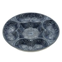 "14"" Embossed Chip and Dip Platter"