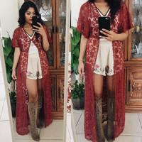 Rust Lace Duster