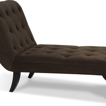 Shop tufted chaise on wanelo for Ave six curves velvet chaise lounge